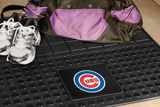 FanMats® Chicago Cubs Logo on Heavy Duty Vinyl Cargo Mat