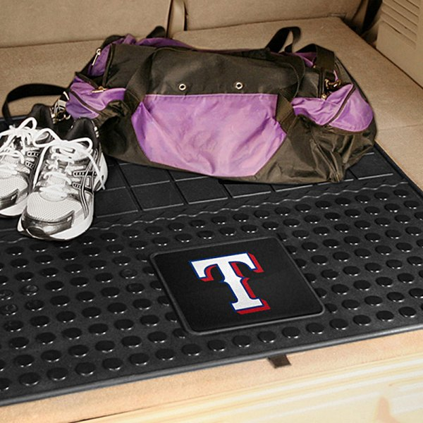 FanMats® Texas Rangers Logo on Heavy Duty Vinyl Cargo Mat