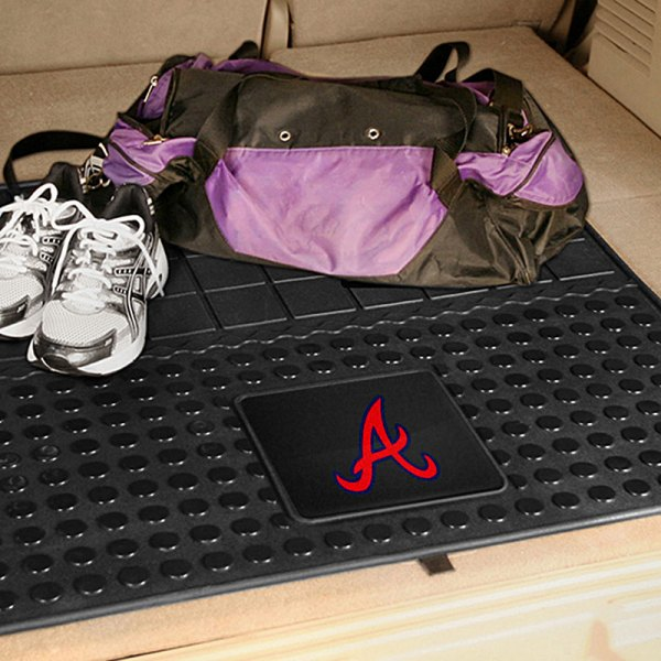 FanMats® Atlanta Braves Logo on Heavy Duty Vinyl Cargo Mat