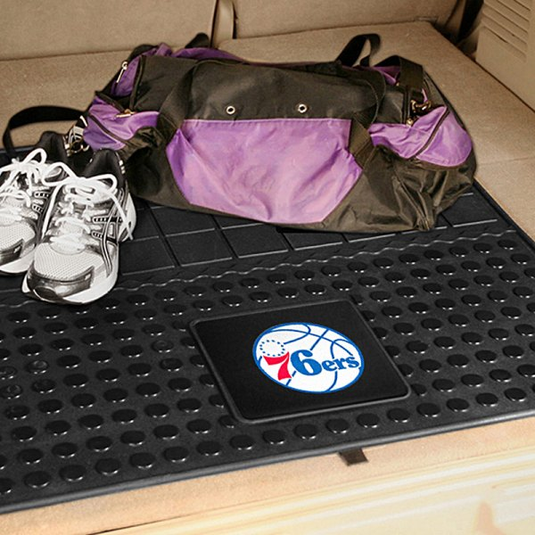 FanMats® Philadelphia 76ers Logo on Heavy Duty Vinyl Cargo Mat