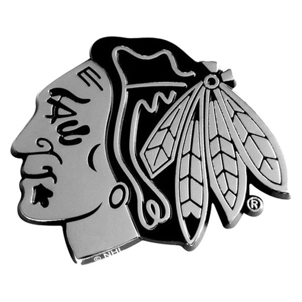 FanMats® - Universal Chrome Emblem (Sports, NHL, Chicago Blackhawks)