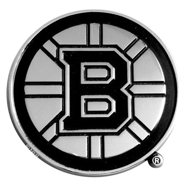 FanMats® - Universal Chrome Emblem (Sports, NHL, Boston Bruins)