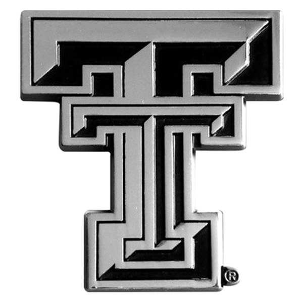 FanMats® - Universal Chrome Emblem (College, Texas, Texas Tech University)