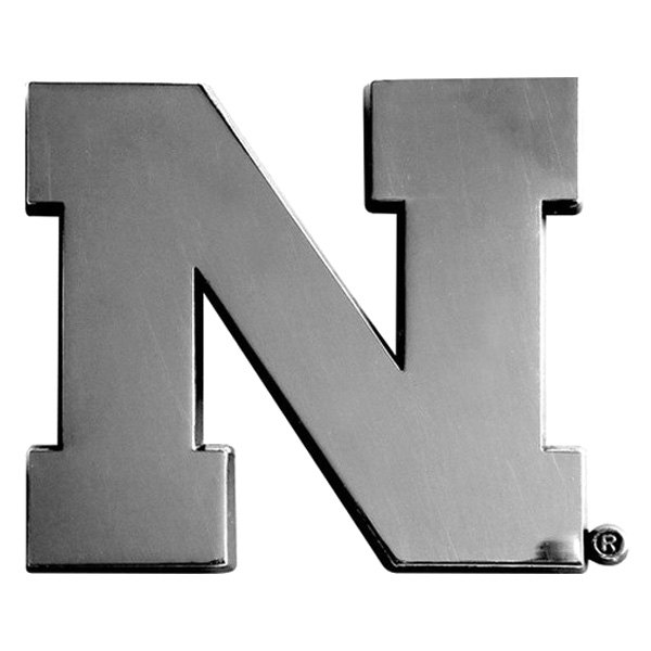 FanMats® - Universal Chrome Emblem (College, Nebraska, University of Nebraska)