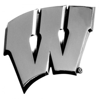 FanMats® - Universal Chrome Emblem (College, Wisconsin, University of Wisconsin)