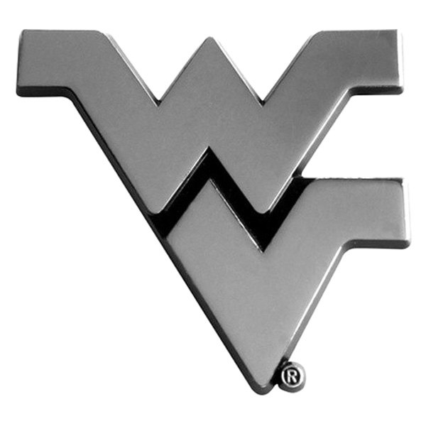 FanMats® - Universal Chrome Emblem (College, West Virginia, West Virginia University)