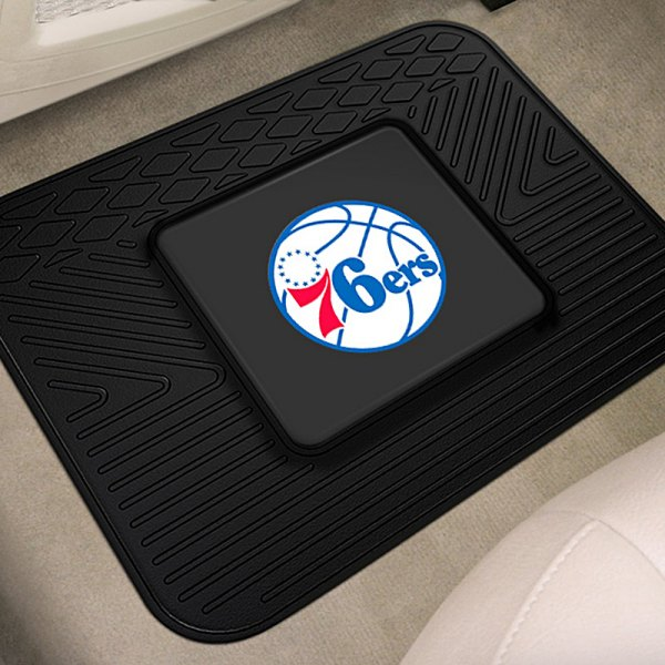 fanmats 10008 2nd row heavy duty vinyl car mats with philadelphia 76ers logo. Black Bedroom Furniture Sets. Home Design Ideas