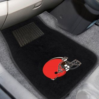 FanMats® - Cleveland Browns Logo on Embroidered Floor Mats