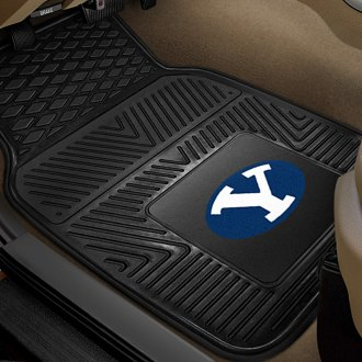 FanMats® - 1st Row Collegiate Heavy Duty Vinyl Car Mats with Brigham Young University Logo