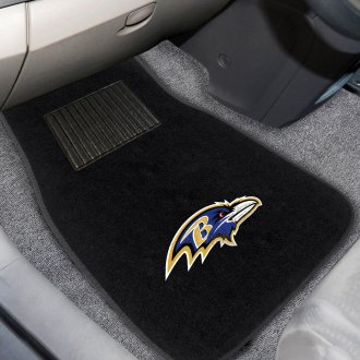 FanMats 10336 - Baltimore Ravens Logo on Embroidered Floor Mats