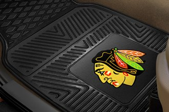 FanMats® 10371 - Chicago Blackhawks Logo on Heavy Duty Vinyl Mats