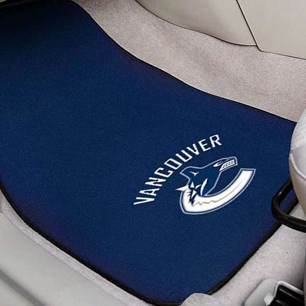 FanMats® Blue Carpet Mats with Vancouver Canucks Logo