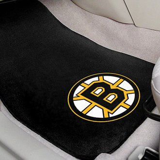 FanMats® - Black Carpet Mats with Boston Bruins Logo
