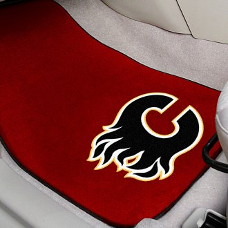 FanMats® - Red Carpet Mats with Calgary Flames Logo