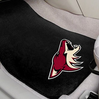 FanMats® - Black Carpet Mats with Arizona Coyotes Logo