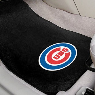 FanMats® - Chicago Cubs Logo on Embroidered Floor Mats