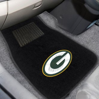 FanMats® - Green Bay Packers Logo on Embroidered Floor Mats