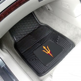 FanMats® - 1st Row Collegiate Heavy Duty Vinyl Car Mats with Arizona State University Logo