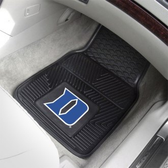 FanMats® - 1st Row Collegiate Heavy Duty Vinyl Car Mats with Duke University Logo