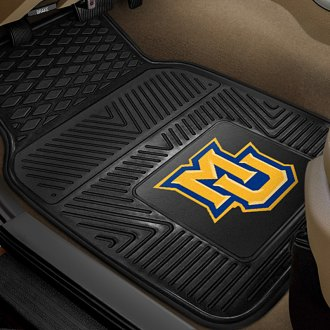 FanMats® - 1st Row Collegiate Heavy Duty Vinyl Car Mats with Marquette University Logo
