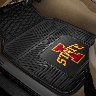FanMats® - 1st Row Collegiate Heavy Duty Vinyl Car Mats with Iowa State University Logo