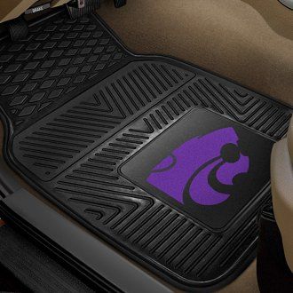 FanMats® - 1st Row Collegiate Heavy Duty Vinyl Car Mats with Kansas State University Logo