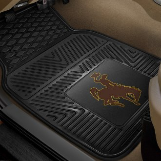 FanMats® - Universal Fit Heavy Duty Vinyl Mats (College, Wyoming, University of Wyoming - Cowboy Logo)