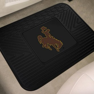FanMats® - Universal Fit Heavy Duty Vinyl Mat (College, Wyoming, University of Wyoming - Cowboy Logo)