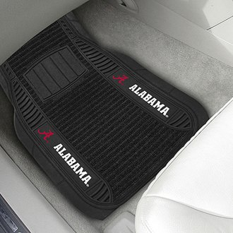 FanMats® - 1st Row Deluxe Vinyl Car Mats with University of Alabama - Crimson 'A' Logo