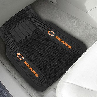 FanMats® - 1st Row Deluxe Vinyl Car Mats with Chicago Bears Logo