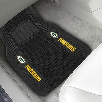 FanMats® - 1st Row Deluxe Vinyl Car Mats with Green Bay Packers Logo