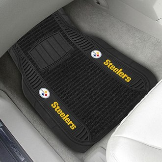 FanMats® - Universal Deluxe Vinyl Car 1st Row Mats (Sports, NFL, Pittsburgh Steelers)