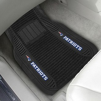 FanMats® - Universal Deluxe Vinyl Car 1st Row Mats (Sports, NFL, New England Patriots)