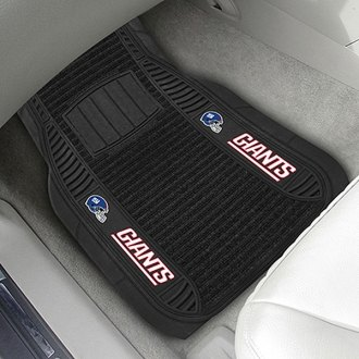 FanMats® - Universal Deluxe Vinyl Car 1st Row Mats (Sports, NFL, New York Giants)