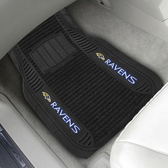 FanMats® - 1st Row Deluxe Vinyl Car Mats with Baltimore Ravens Logo