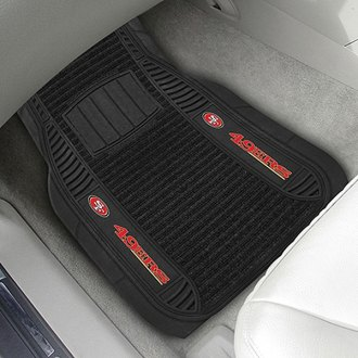FanMats® - Universal Deluxe Vinyl Car 1st Row Mats (Sports, NFL, San Francisco 49ers)