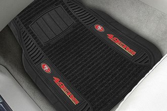 FanMats® 13793 - San Francisco 49ers Logo on Deluxe Vinyl Car 1st Row Mats