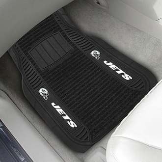FanMats® - Universal Deluxe Vinyl Car 1st Row Mats (Sports, NFL, New York Jets)