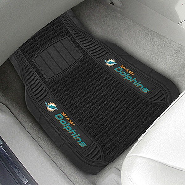 Peachy Fanmats 13797 1St Row Black Deluxe Vinyl Car Mats With Miami Dolphins Logo Pabps2019 Chair Design Images Pabps2019Com