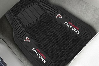FanMats® - 1st Row Black Deluxe Vinyl Car Mats with Atlanta Falcons Logo
