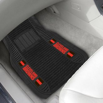 FanMats® - Universal Deluxe Vinyl Car 1st Row Mats (Sports, NFL, Cleveland Browns)