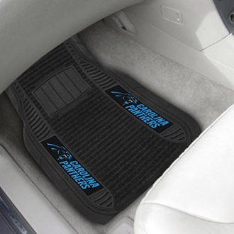 FanMats® - Universal Deluxe Vinyl Car 1st Row Mats (Sports, NFL, Carolina Panthers)