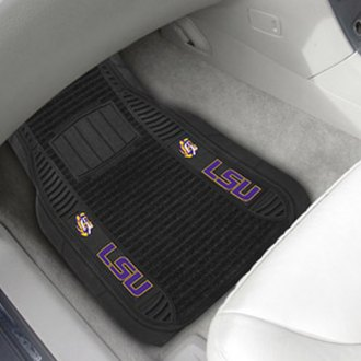 FanMats® - 1st Row Deluxe Vinyl Car Mats with Louisiana State University Logo