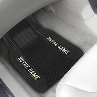 FanMats® - Universal Deluxe Vinyl Car 1st Row Mats (College, Indiana, Notre Dame)