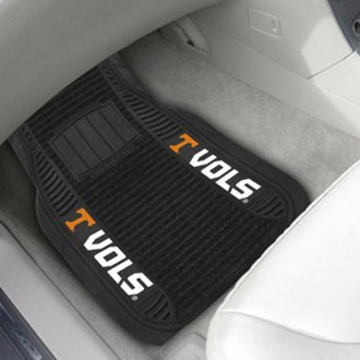 FanMats® - 1st Row Deluxe Vinyl Car Mats with University of Tennessee Logo