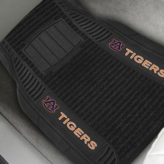 FanMats® - 1st Row Deluxe Vinyl Car Mats with Auburn University Tigers Logo