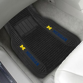 FanMats® - Universal Deluxe Vinyl Car 1st Row Mats (College, Michigan, University of Michigan)