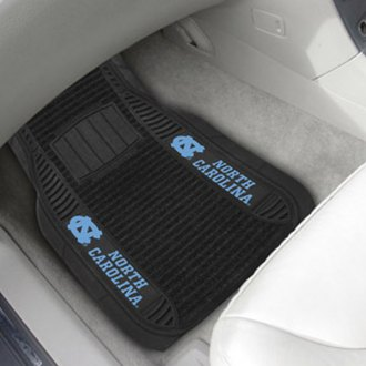 FanMats® - 1st Row Deluxe Vinyl Car Mats with University of North Carolina - Chapel Hill - NC Logo
