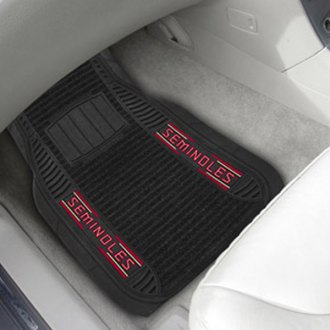 FanMats® - 1st Row Deluxe Vinyl Car Mats with Florida State University - FS Logo