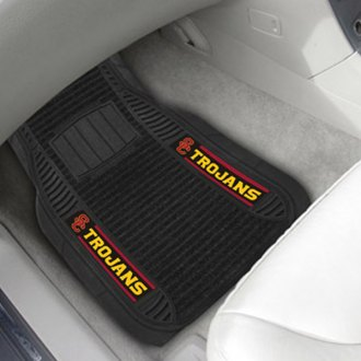 FanMats® - Universal Deluxe Vinyl Car 1st Row Mats (College, California, University of Southern California)